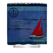 Sail Sail Sail Away - J173131140v02 Shower Curtain by Variance Collections