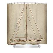 Sailboat 42 Shower Curtain