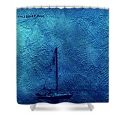 Sailboat As A Painting Shower Curtain