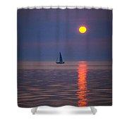 Sailboat At Sunrise Shower Curtain