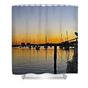 Sailboat Bay Shower Curtain