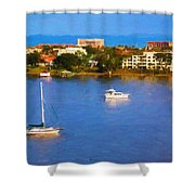 Sailboat In Holly Hill Shower Curtain