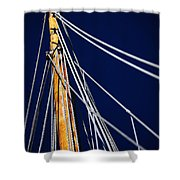 Sailboat Lines Shower Curtain