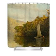Sailboat On River Shower Curtain