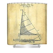 Sailboat Patent From 1962 - Vintage Shower Curtain