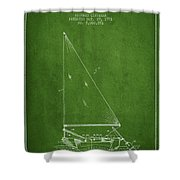 Sailboat Patent From 1991- Green Shower Curtain