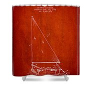 Sailboat Patent From 1991- Red Shower Curtain