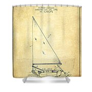 Sailboat Patent From 1991- Vintage Shower Curtain