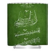Sailboat Patent From 1996 - Green Shower Curtain