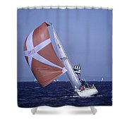 Sailboat Race On Puget Sound Shower Curtain