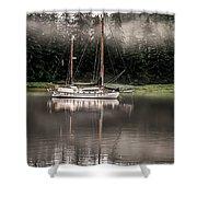 Sailboat Reflection Shower Curtain