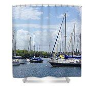 Sailboat Series 05 Shower Curtain