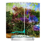 Sailboat Series 07 Shower Curtain