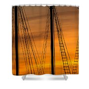 Sailboat Sunrise Shower Curtain