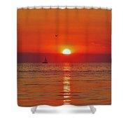 Sailboat Sunset Pamlico Sound 3 10/2 Shower Curtain