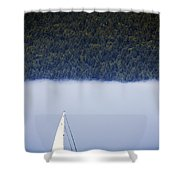 Sailboat Tranquility Shower Curtain