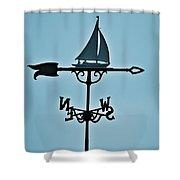 Sailboat Weathervane Shower Curtain