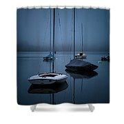 Sailboats At Dawn Shower Curtain