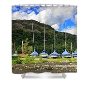 Sailboats At Glenridding In The Lake District Shower Curtain