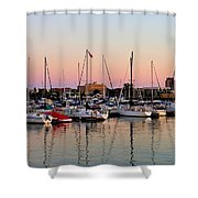 Sailboats At Sunset Shower Curtain