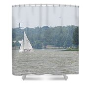 Sailboats At White Rock Lake Shower Curtain
