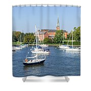 Sailboats By Charles Carroll House Shower Curtain
