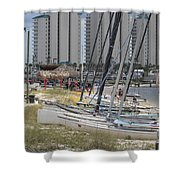 Sailboats For Playtime Shower Curtain