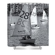 Sailboats On The Charles River II Shower Curtain by Clarence Holmes