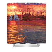 Sailboatsunset Shower Curtain
