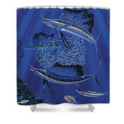 Sailfish Round Up Off0060 Shower Curtain