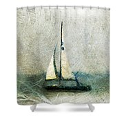 Sailin' With Sally Starr Shower Curtain by Trish Tritz
