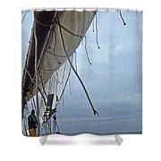 Sailing A Skipjack Shower Curtain