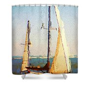 Sailing At Daytona Shower Curtain