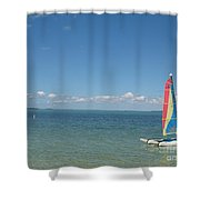 Sailing  At Key Largo Shower Curtain