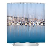Sailing Boats In The Howth Marina Shower Curtain