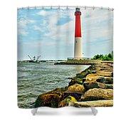 Sailing By Barnegat Light Shower Curtain