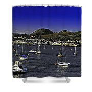 Sailing Conwy Harbor Shower Curtain