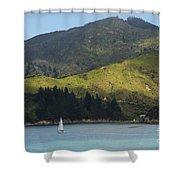 Sailing Cook Strait Shower Curtain