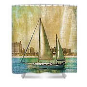 Sailing Dreams On A Summer Day Shower Curtain