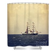 Sailing II Shower Curtain by Angela Doelling AD DESIGN Photo and PhotoArt
