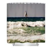Sailing In California Shower Curtain