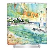 Sailing In Saint Martin Shower Curtain