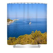 Sailing In The Adriatic Shower Curtain