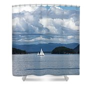 Sailing In The San Juans Shower Curtain by Carol Groenen
