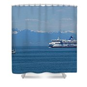Sailing In The Summer Shower Curtain
