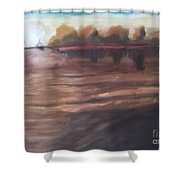 Sailing In To The Sunset Shower Curtain