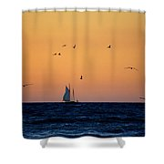 Sailing In Venice 2 Shower Curtain