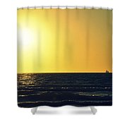 Sailing In Venice 3 Shower Curtain