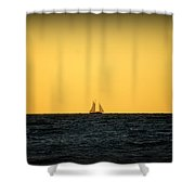 Sailing In Venice Shower Curtain