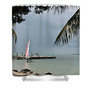 Sailing Key Largo Shower Curtain